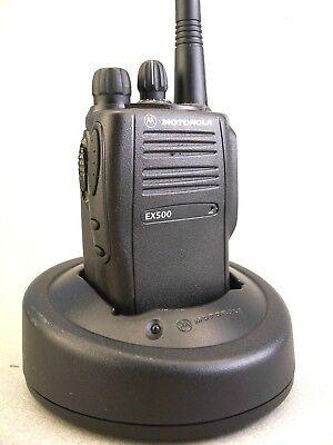 Mint Motorola Ex500 Vhf 16ch Radio Waccessories