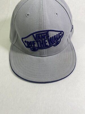 Vans New Era Wool Embroidered Hat Fitted Cap 7 Grey Off The Wall Skate 59fifty