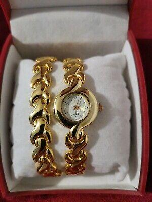 JEAN LOUIS SCHERRER Paris - Gold Colour Watch and Bracelet Set - Never Worn