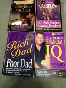 Rich dad poor dad.  4 books