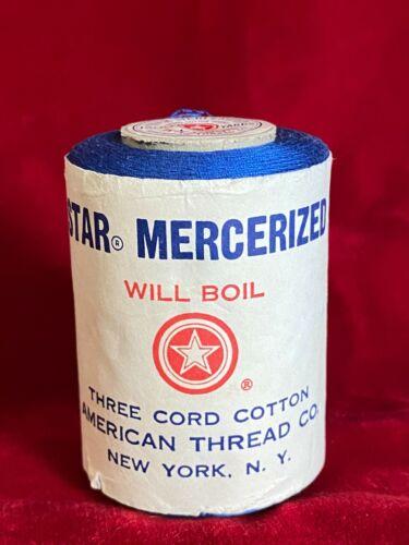 Star Mercerized Will Boil Three Cord Cotton Thread 1200 Yds Royal Blue Unused