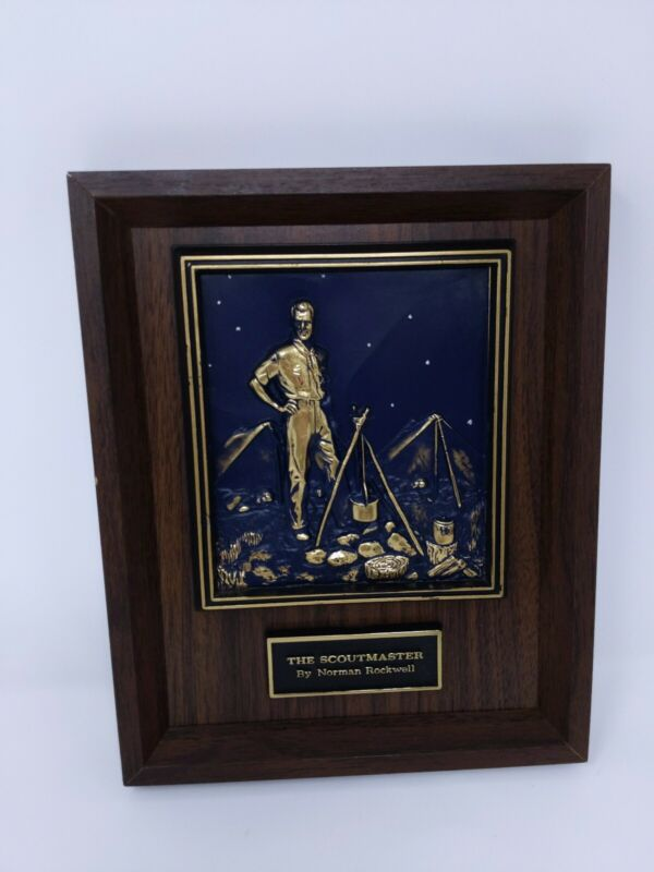 Scoutmaster 3D Sculpture Plaque Normal Rockwell Boy Scout