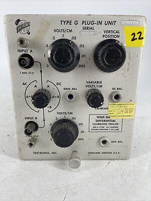 Tektronix Type G Plug In Unit For Oscilloscope Parts Or Repair