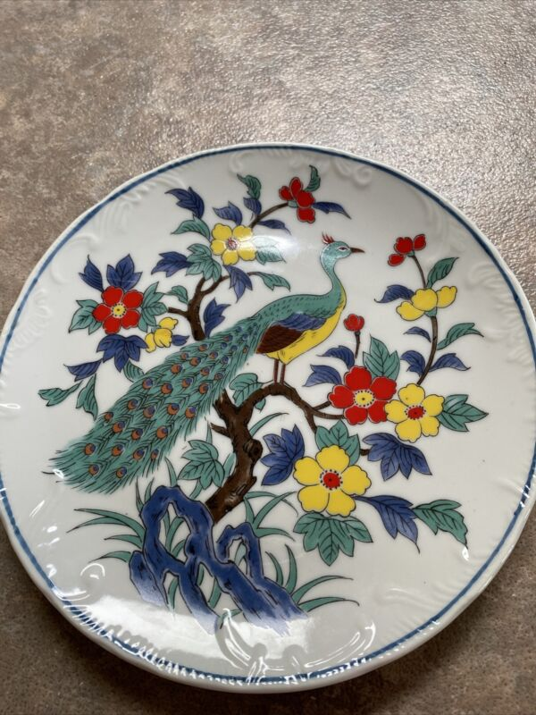 peacock 8in plate
