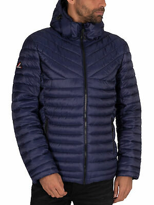 Superdry Men's Desert Alchemy Fuji Jacket, Blue