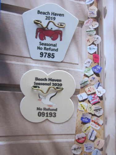 2 YEAR COLLECTION  BEACH  HAVEN  NEW  JERSEY  SEASONAL  BEACH  BADGES/TAGS