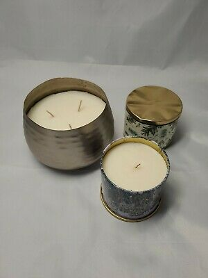 Illume Balsam & Cedar Candles,  Vanity Tin 11.8 oz & 2.5 lb Large Metal Jar
