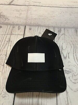 Nike Fitted Hat Adult Size Medium/small Stretch New With Tags Athletic Black (Nike Stretch Hat)