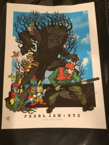 Pearl Jam Concert Poster 07.24.2008 NYC by Ames Bro's