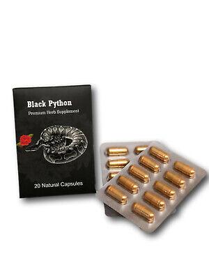 Black Python Energy Enhancement Enhancer Libido Booster Man 20 Pills Best