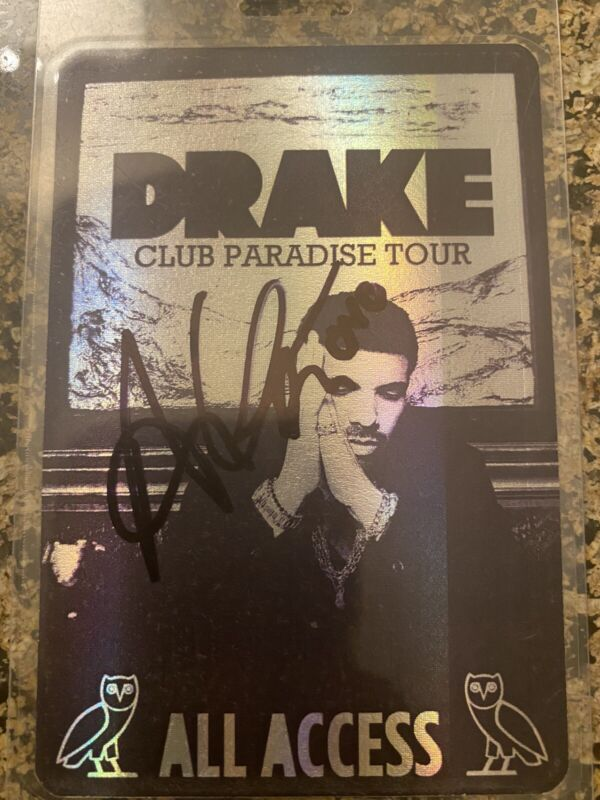 DRAKE Signed Club Paradise All Access Backstage Pass OVO