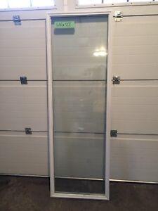 Exterior door glass inserts