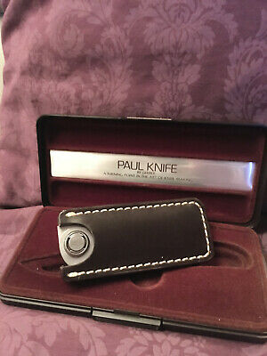 LIMITED EDITION PAUL KNIFE BY GERBER WITH VINTAGE LEATHER HOLSTER