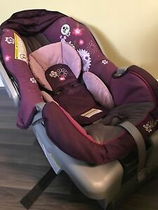 Infant car seat with base.
