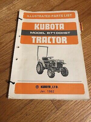 Genuine Original Kubota B7100hst Tractor Parts Book Catalog Manual
