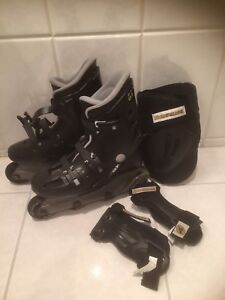 REDUCED Ladies size 6 Rollerblades w/ Knee Pads & Wrist Guards