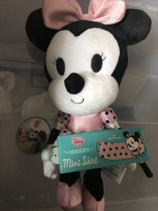 Hallmark Plush KID3144 Minnie Mouse Mini Skirt Plush
