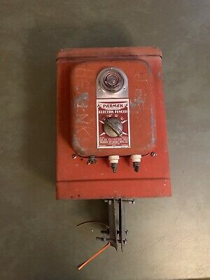 Parmak Electric Fencer Hemi Orange Untested Art Antique Vintage Decor Soc25