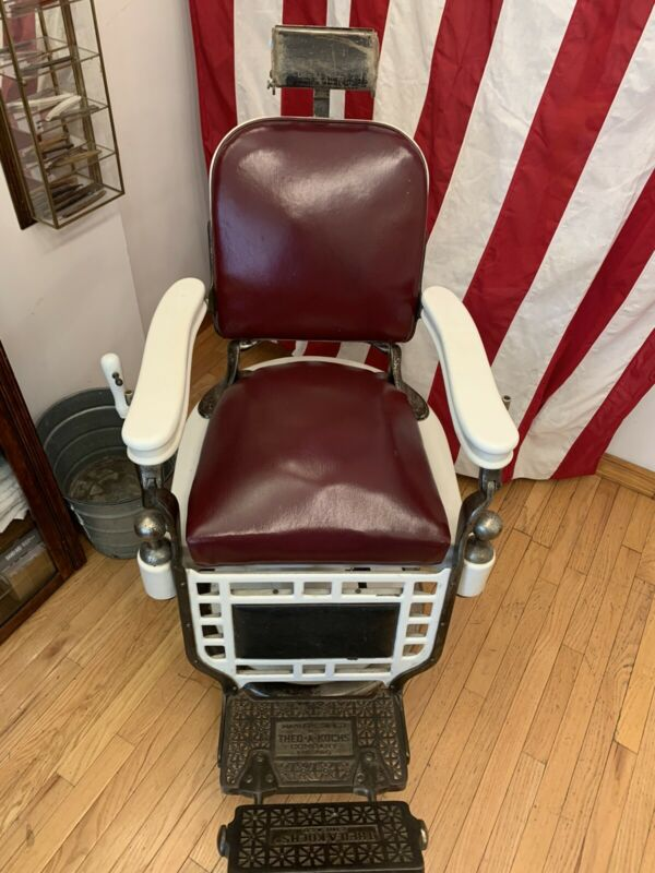 Vintage Barber Chair Theo-A-Kochs All Otiginal Pieces