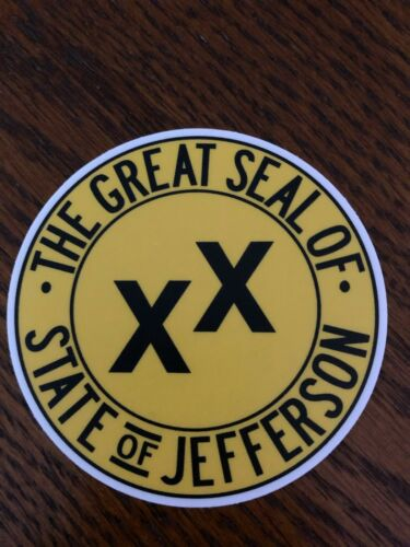 State of Jefferson 3 inch Window Bumper Sticker