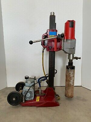 Milwaukee 4096 Dymodrill W Mk-manta Iii Combo Core Drill Stand Gast Vacuum