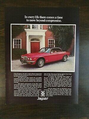 Vintage 1976 Jaguar XJC Full Page Original Color Ad