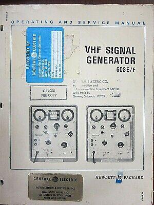 Hp Vhf Signal Generator 608ef Operating And Service Manual 00608-90022