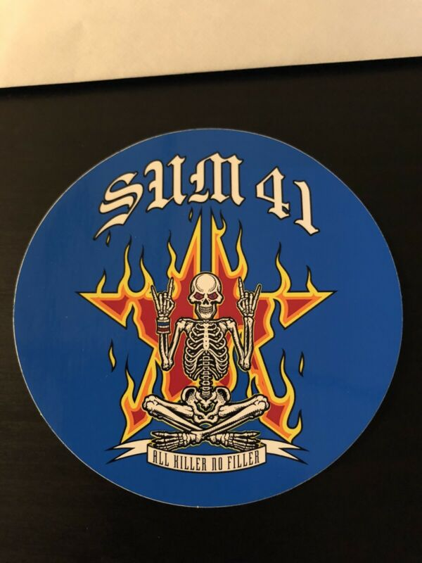 Sum 41 ALL KILLER NO FILLER Sticker Blink 182 Billy Talent Mxpx FREE SHIPPING