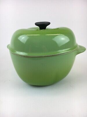 Le Creuset Mini Green Apple Cocotte Stoneware Covered EUC Le Creuset Apple