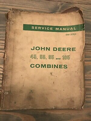 John Deere Vintage 45 55 95 105 Combines Service Manual Ships Quick Free