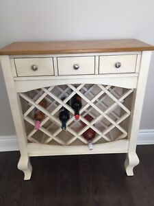 Ashley furniture wine rack/ console table