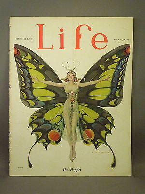 "VINTAGE 1922 ""LIFE"" THE FLAPPER BUTTERFLY ART BY LEYENDECKER ORIGINAL MAGAZINE"