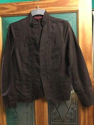 John Richmond Ladies Military Style Jacket Size 16