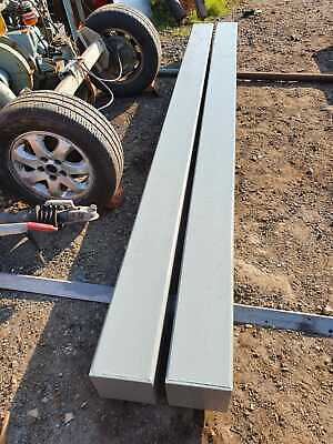 2 x Steel Gate Fence Posts 10mm Box Section Pair