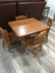 SOLID OAK CHILDREN'S TABLE AND  CHAIR SET