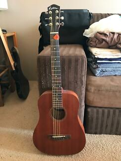 As new steel string acoustic guitar