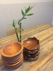 Small wooden bowls