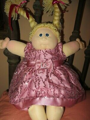 Vtg 1978 Little People Soft Sculpture Cabbage Patch Xavier Roberts Blonde doll