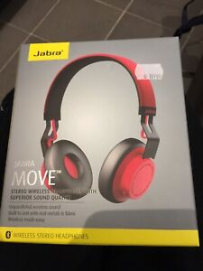 Jabra Move Wireless Headphone - Brand New Red colour Rrp: $160