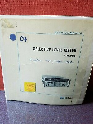 Hp Service Manual 03586-90001 Selective Level Meter 3586abc 3887