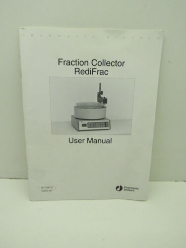 Pharmacia Biotech Fraction Collector RediFrac Paper Paperback User Manual