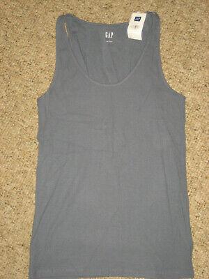 New womens tank top shirt gray ribbed stretch Gap small Gray Tank Top Shirt
