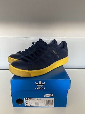 Adidas Forest Hills Navy/Yellow Size 9, Used Very Good Condition
