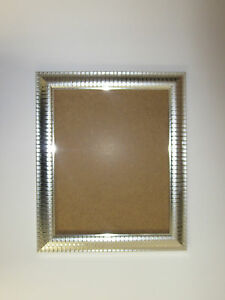 two tone silver effect 10 x 14 picture photo frame to hang ebay. Black Bedroom Furniture Sets. Home Design Ideas