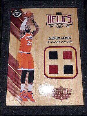 2017/18 Supreme Hard Court LeBron James Quad 2 Color Jersey NBA Floor Relic UDA