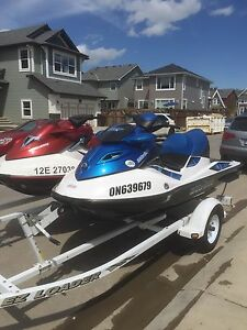 Pair of  Waverunner seadoos with trailer