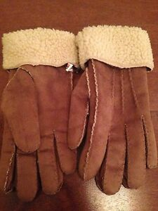 Ralph Lauren Polo Faux Shearling Women's winter gloves - Medium