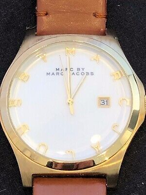 Marc by Marc Jacobs MBM1213 brown leather strap Henry watch women's