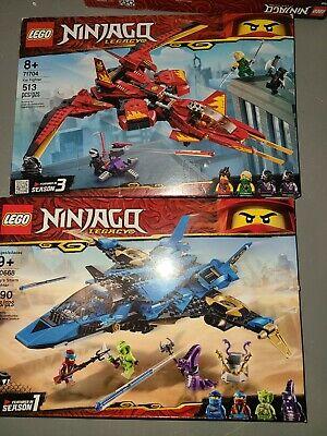 LEGO Jay's Storm Fighter Ninjago (70668)and Kaifighter (71704)