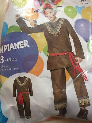 Kostüm Fasching Mottoparty * Jungen * Gr. 4 - 6 J. * INDIANER * 3-teilig * NEU